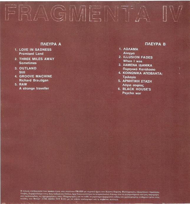 Fragmenta IVb