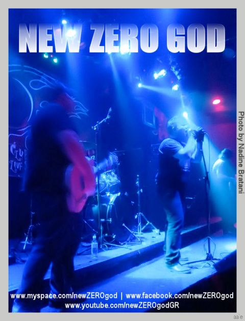 New Zero God - Live at Eightball Club, Thessaloniki on March 5, 2011 (Photo by Nadine Bratani)