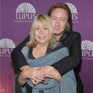 "Julian Lennon with Mom, Cynthia, at the Lupus Foundation of America, ""Butterfly Gala"" in New York City"
