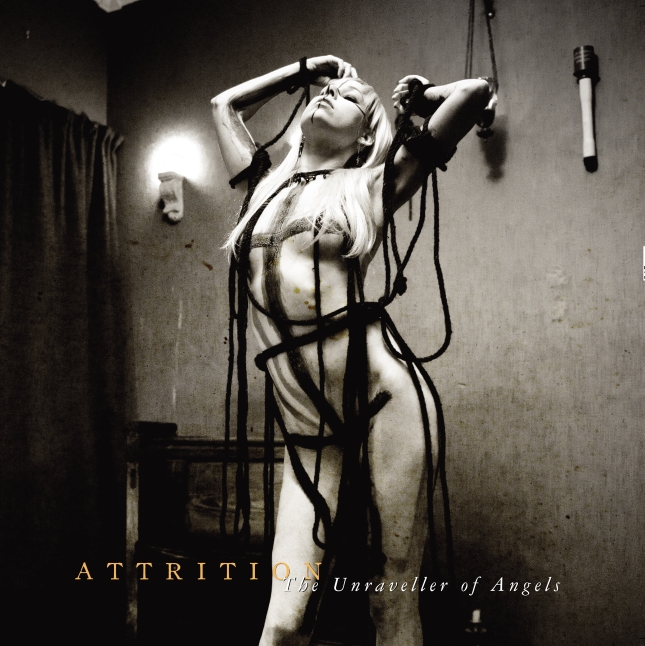 ATTRITION - The unraveller of angels vinyl LP cover